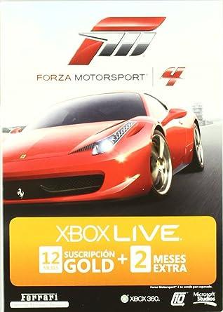 Tarjeta Suscripción Gold 12+2 meses Forza Motorsport 4 ...