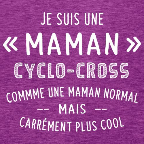 une maman normal cyclocross - Femme T-Shirt - Violet - XL