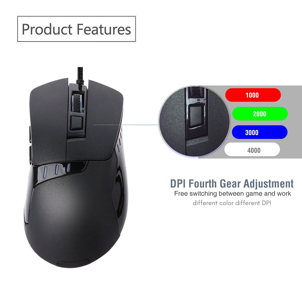 Amazon.com: USB C Mouse, Sunwe Type C Mouse Wired Ergonomic Optical ...