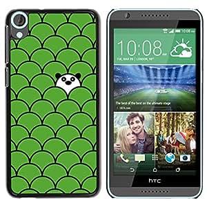 YOYOYO Smartphone Protección Defender Duro Negro Funda Imagen Diseño Carcasa Tapa Case Skin Cover Para HTC Desire 820 - patrón de la panda escala verde lindo dulce