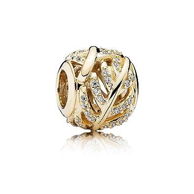 6f17495be Amazon.com: Pandora Light As A Feather 14K Cz Charm: Jewelry