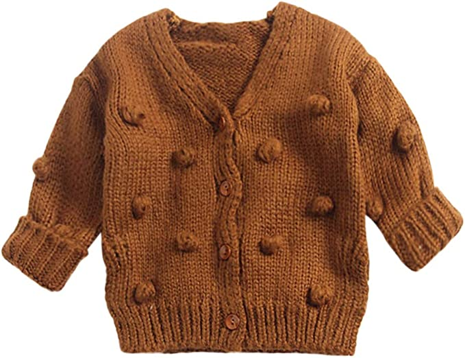 Toddler Girls Kids Baby Sweater Hooded Knit Pullovers Cardigan Warm Coat Clothes