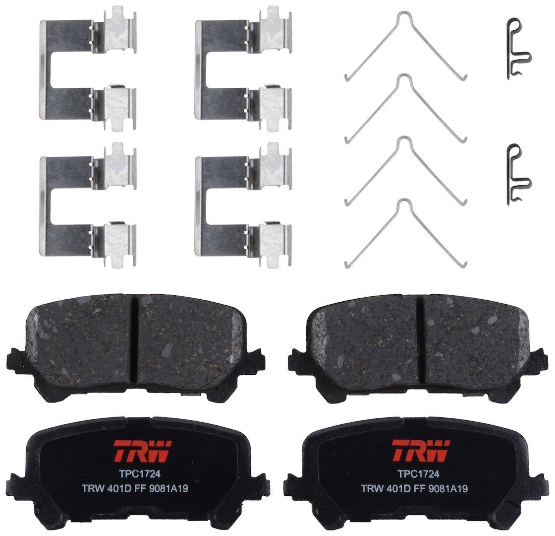 TRW TPC1724 Premium Ceramic Rear Disc Brake Pad Set TRW Automotive