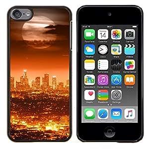 """Be-Star Único Patrón Plástico Duro Fundas Cover Cubre Hard Case Cover Para iPod Touch 6 ( Ciudad de la Luna Llena Moderno"""" )"""