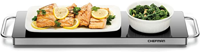 Chefman w/Silicone Heating Element, Food for Parties, Stainless Steel Frame & Warming Tray, Long Warming Plate
