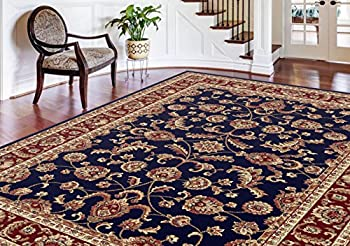 Universal Rugs Sariya Transitional Oriental Navy Rectangle Area Rug, 8' x 11'