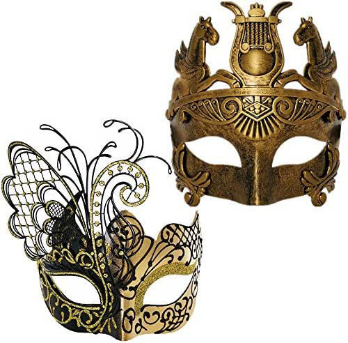 Various Venetian Couple Masks for Masquerade/Party/Ball Prom/Mardi Gras/Wedding/Wall Decoration