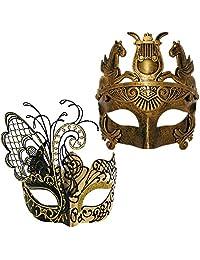Various Venetian Masquerade Couple Mask For Butterfly & Roman Men & Women Mask