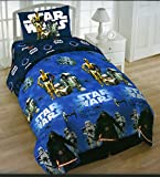 Star Wars Twin 4 Piece Bedding Set with Tote - Reversible Comforter, Sheets, Pillowcase