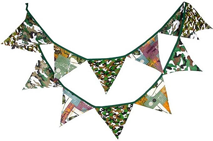 12 Flags-3.2m Tela Banderines Algodón Pancarta Banderín Banderas Guirnaldas para Boda Cumpleaños Fiesta Baby Shower Decoración Suministros Infantil Fotografía Accesorios Dormitorio Adorno: Amazon.es: Hogar