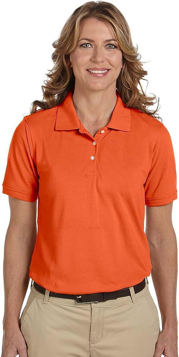 Harriton Ladies Easy Blend Cotton Pique Polo Shirt