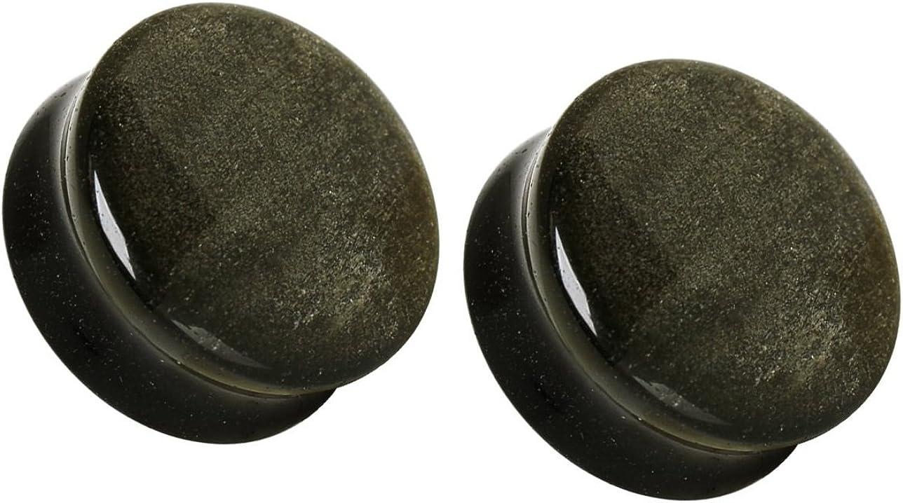 Natural Golden Obsidian Stone WildKlass Saddle Plug