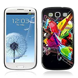 Colorful Printed Hard Protective Back Case Cover Shell Skin for Samsung Galaxy S3 III / i9300 i717 ( Abstract Colorful & Cool Design )