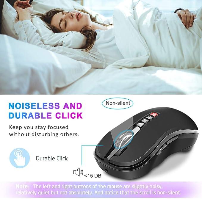 Opluz Ratón inalámbrico, Bluetooth Presenter Mouse 7 Botón ...