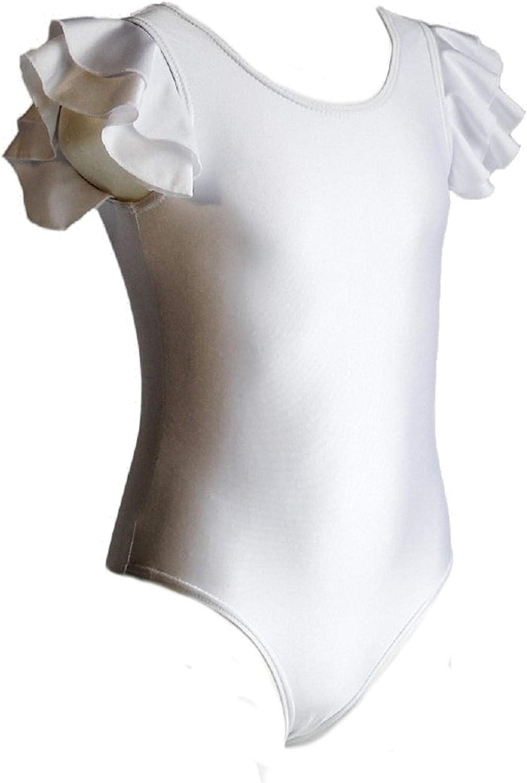Tissu /élastique en Lycra Fabriqu/é en Espagne ANUKA Body Girl avec Deux Volants sur l/épaule