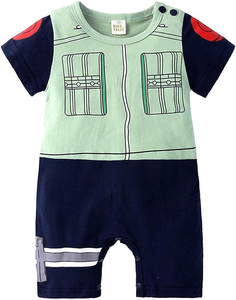 domorebest Baby Kurzarm Overall Naruto Baby Strampler Baumwolle S/ü/ße Onesies Cosplay Fotografie Kleidung