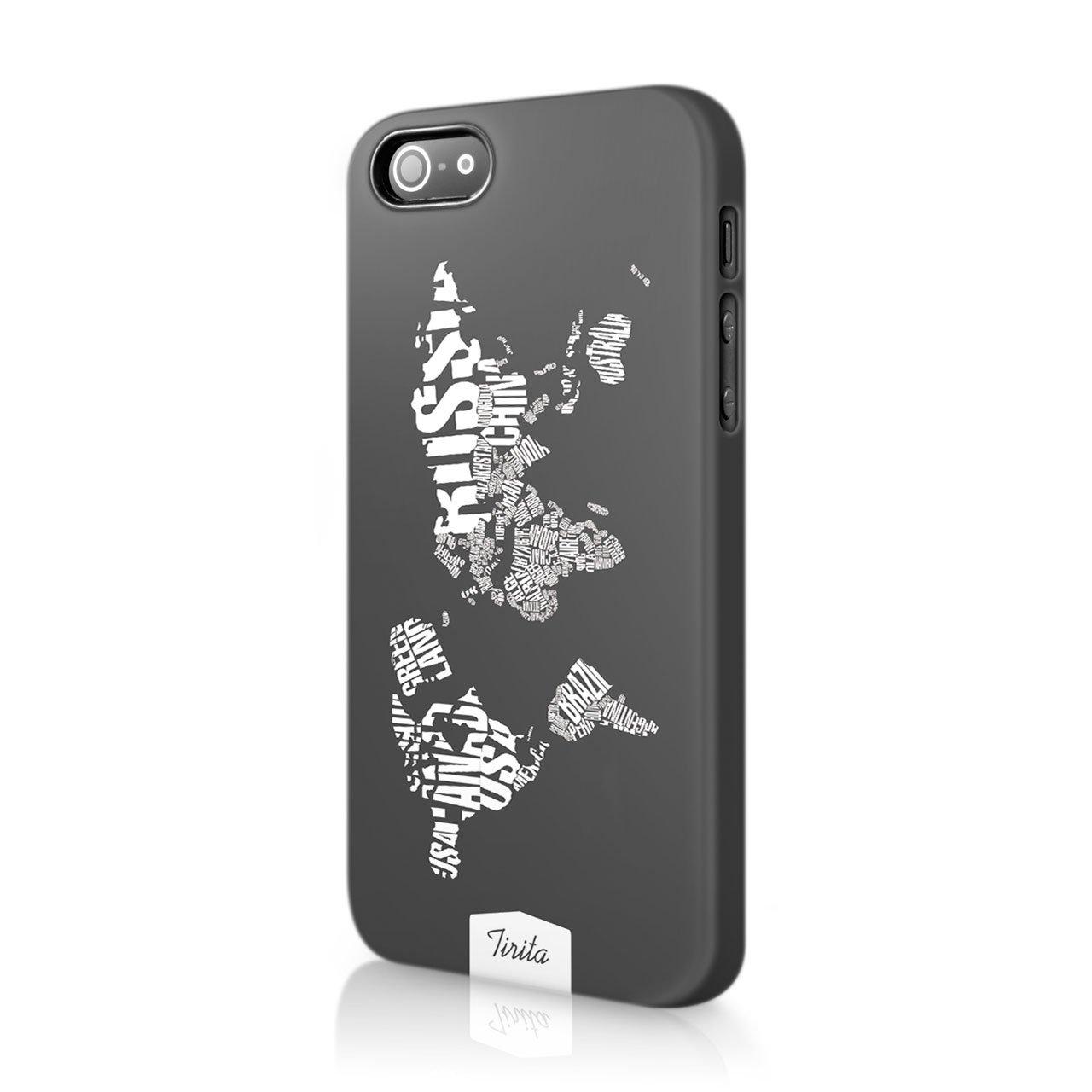 Tirita duro plastica copertura del telefono trendy Fashion cute design World Travel Map Planes passaporto
