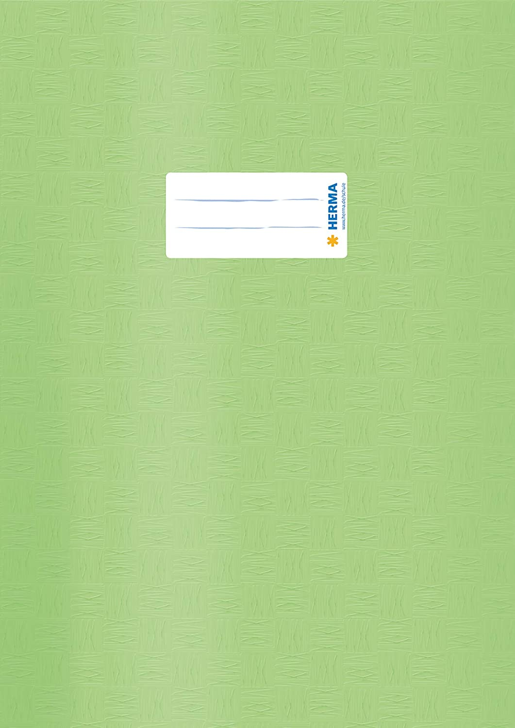 Herma Exercise Book Cover Plastic DIN A4,/Covered with Raffia Pack of 1 Light Green