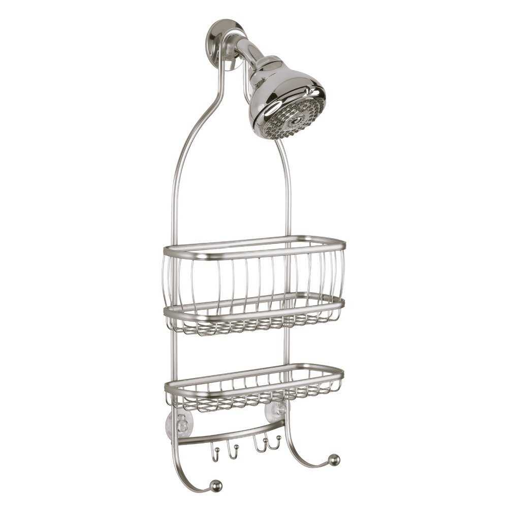 InterDesign York Lyra   Bathroom Shower Caddy Shelves   Satin   10 X 4 X 22