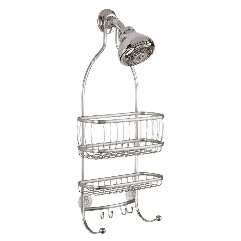 InterDesign York Lyra - Bathroom Shower Caddy Shelves - Satin - 10 x 4 x 22 inches