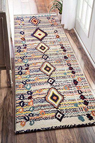 "nuLOOM Moroccan Motely Rug, Multi, 2' 6"" x 8'"