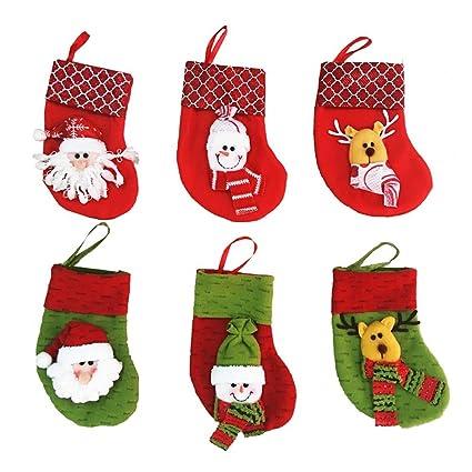 Veewon Medias navideñas muñeco de nieve santa claus bolsa de calcetines presente bolsa de regalo,