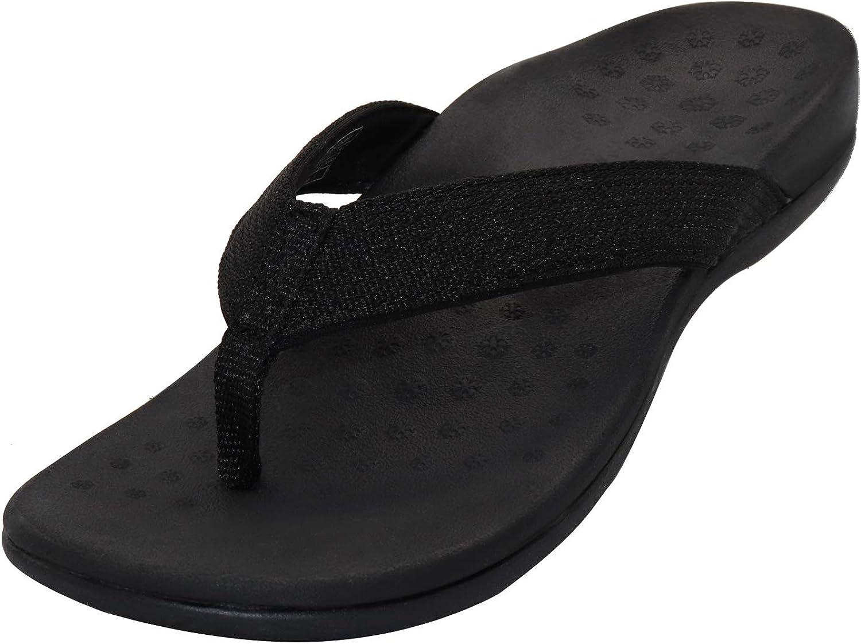 Sandalias ortopédicas con soporte de arco para mujer, sandalias ortopédicas para fascitis plantar, pies planos y dolor de pies