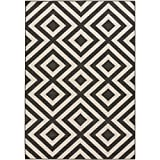 Trivette Black and Cream Indoor / Outdoor Area Rug 6′ x 9′ Review