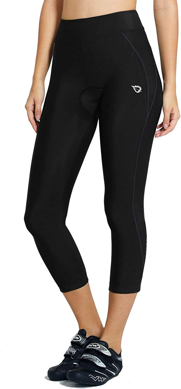 BALEAF Womens Breathable 3//4 Cycling Pants 3D Padded Tights Side Pockets Lightweight High Waistband