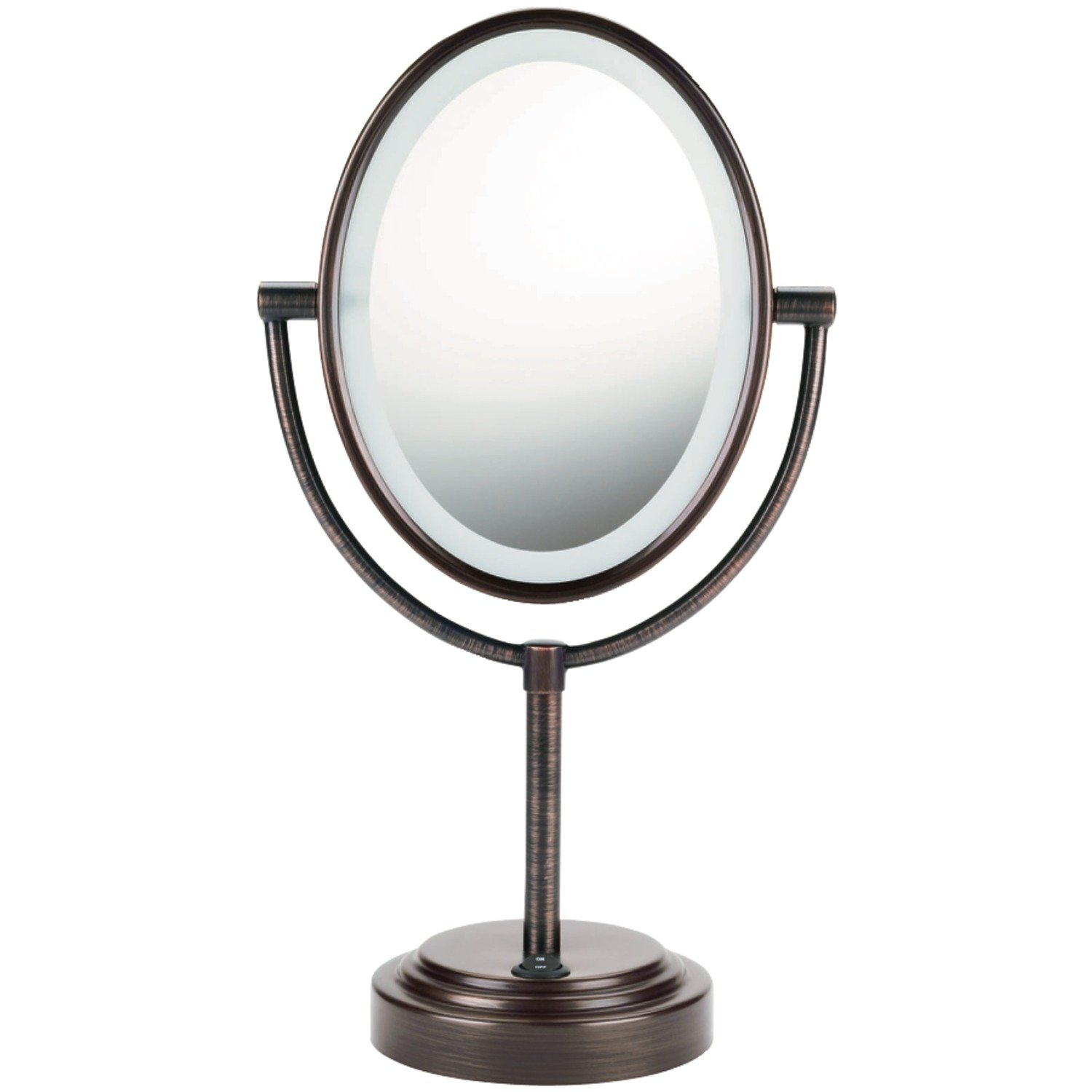 Amazoncom  Conair Oval Shaped DoubleSided Lighted Makeup Mirror - Making a vanity mirror