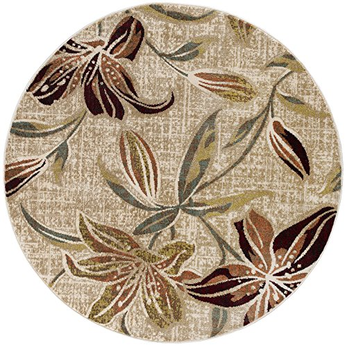 Universal Rugs DCO1117 8RND Lily Area Rug, 8' Round, ()