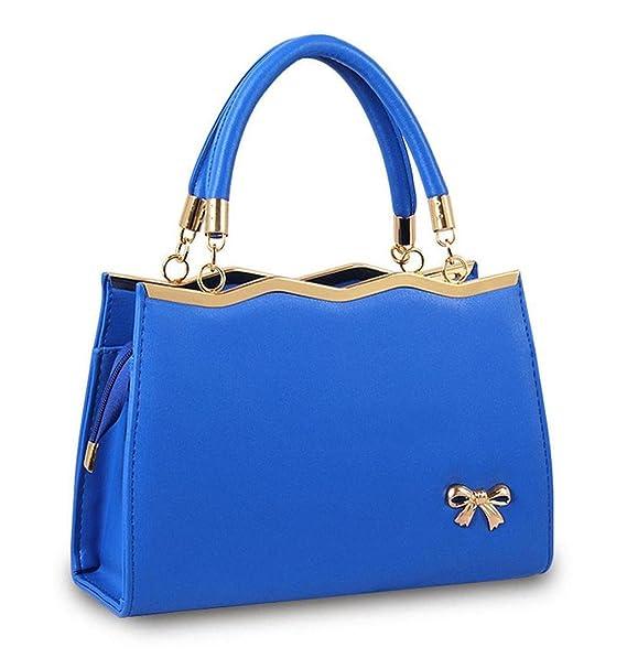 LuckES bolsos elegantes de cuero y a la moda para dama Las mujeres flor impresión bolsos bolsa