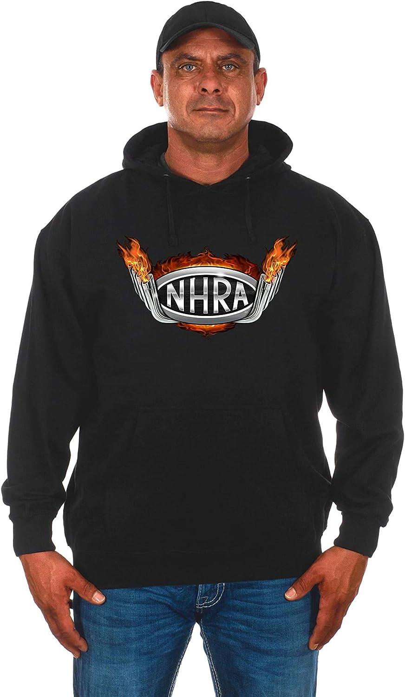 JH Design Mens NHRA Drag Pipe Flames Pullover Hoodie Sweatshirt