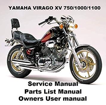 amazon com yamaha virago xv 750 1100 owners workshop service rh amazon com 1981 Yamaha 1100 1997 yamaha wave venture 1100 repair manual