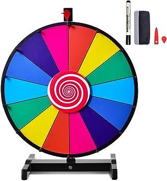 Costway Prize Wheel Roue De La Fortune 24 Pouces 14 Slot Roue De Loterie Avec Stylo Effacable