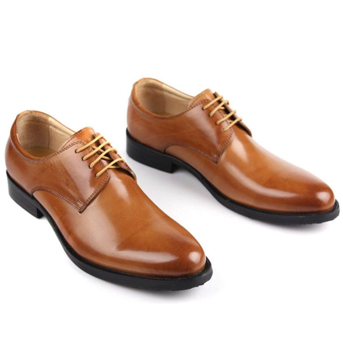 Männer Geschäft Kleidschuhe Schuhe Runder Kopf Herrenschuhe Leder Niedrige Schuhe Schuhe Kleidschuhe Casual Yellow 472a65