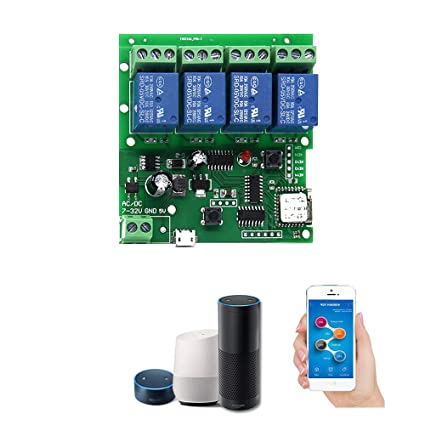 OWSOO Sonoff DC5V 12V 24V 32V Wifi Switch Wireless Relay Module Smart Home  Automation Modules Phone APP Remote Control Timer Switch Alexa Voice