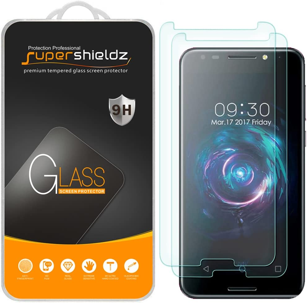 (2 Pack) Supershieldz for T-Mobile Revvl (Not Fit for T-Mobile Revvl 2) Tempered Glass Screen Protector, Anti Scratch, Bubble Free