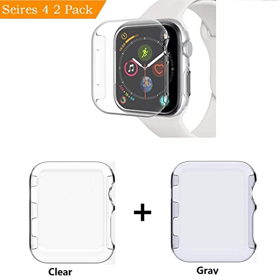 competitive price cc993 74c08 Sfmn PC Hard Clear Watch Case Compatible/Replacement for Apple Watch Series  4 44MM / iWatch 4 Case Bumper Ultra-Slim Cystal Clear Full Coverage ...