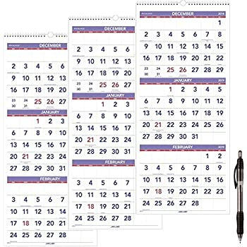 January 2020 Calendar 85 X 14 Amazon.: at A Glance Wall Calendar, 2019, December 2018