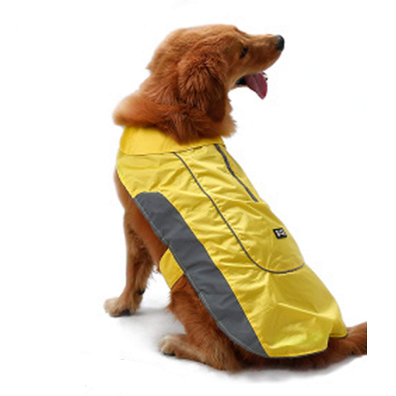 Yellow XXL Yellow XXL New Dog Jacket Pet Clothes Winter Warm Large Dog Coat with Harness Hole