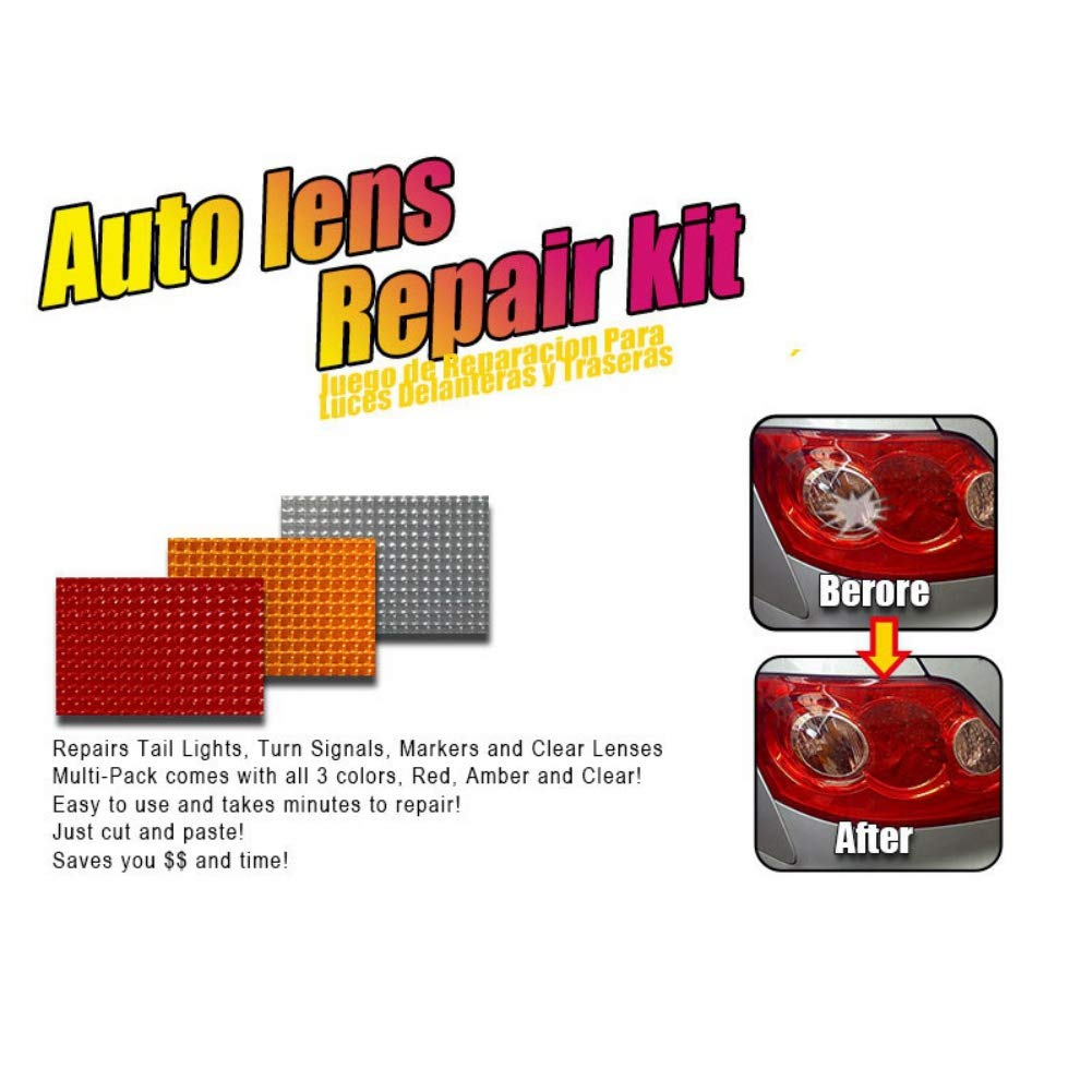 Balight New Car Auto Lens Repair Kit Universal Multi-Pack Car Headlights Taillight Repair Tool Set Car Lights Crack Repair