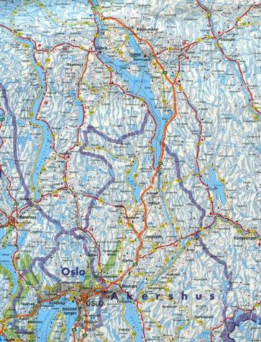 Noruega, mapa de carreteras. 1:600.000. Freytag & Berndt ...