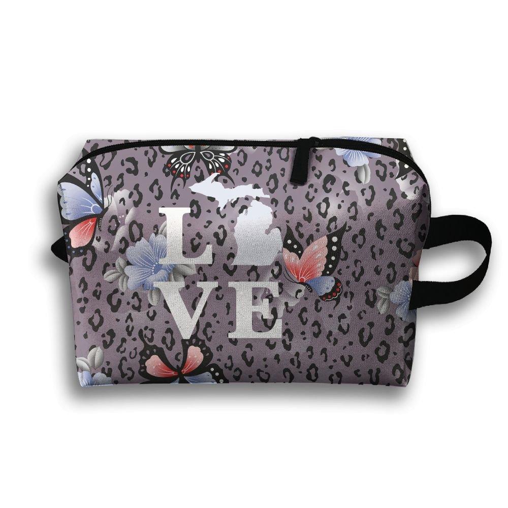 Michigan Love Travel Bag Multifunction Portable Toiletry Bag Organizer Storage