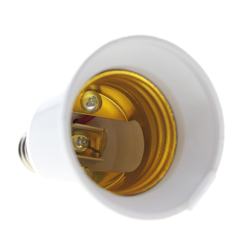 Kompassswc 2 St/ück Lampensockel E14 Fassung auf E27 Sockel Adapter LED-Gl/ühlampe Lampenfassung Konverter Lampenadapter Lampe Verl/ängerung