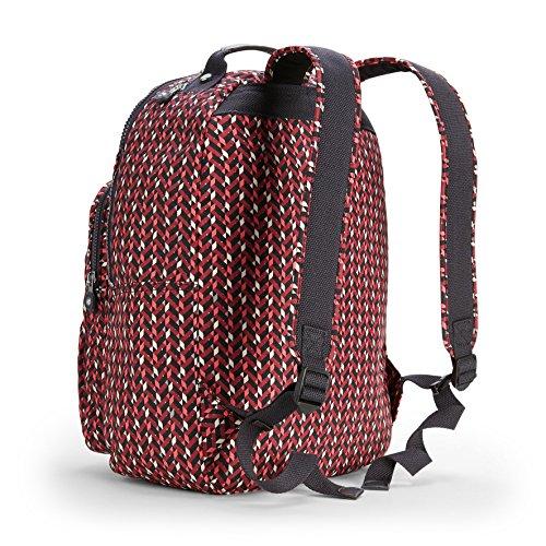 Kipling - CLAS SEOUL - Großer Rucksack - Teal C - (Blau) Pink Chevron PDjCI
