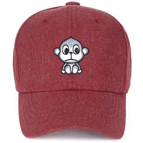 43c92659cf6 ililily Cute Monkey Embroidery Adjustable Toddler Baby Kids Hat Baseball Cap  (ballcap-1450-