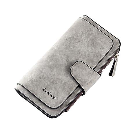 e434f6da8ad0f6 DNFC Damen Geldbörse Portemonnaie Lang Portmonee Elegant Clutch Große  Kapazität Handtasche Geldbeutel PU Leder Geldtasche mit