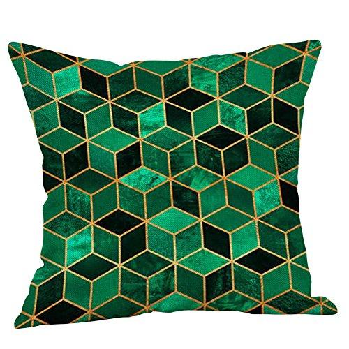 - Weiliru Pink Geometric Cotton Blend Linen Sofa Throw Pillowcase Pillow Cover with Hidden Zipper Closure Only Cover No Inner 18×18Inch