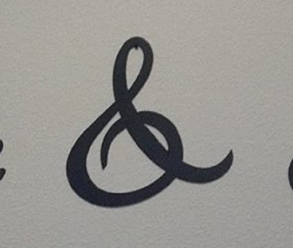 Amazon.com: Say It All On The Wall Ampersand And& Sign 6 Inch (6 ...